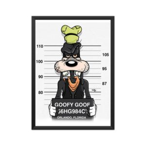Most-Wanted-Goofy-Framed Poster A4