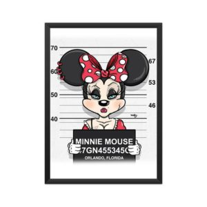 Most-Wanted-Minnie-Mouse-Framed Poster A4